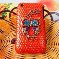 iphone Hard Case Cover With Bronze Cute Owl by jewelrybraceletcuff