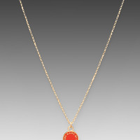 Marc by Marc Jacobs Classic Marc Enamel Disc Necklace in Blaze Red/Oro from REVOLVEclothing.com