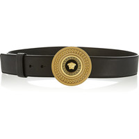 Versace | Medallion-clasp leather belt | NET-A-PORTER.COM