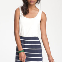 Mimi Chica Nautical Blouson Tank Dress | Nordstrom