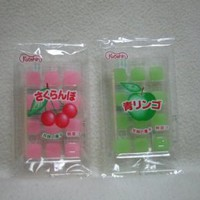 Mochi (Rice Cake) Candy Green Apple & Cherry From Japan 12 Pcs Each