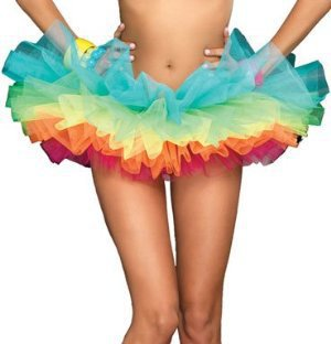 Amazon.com: Leg Avenue Women's Rainbow Organza Tutu Dress: Clothing