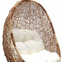 Belina - Nature Wicker Porch Swing Chair - Great Hammocks - Model - DL0013-TW