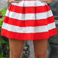 The Travel Time Skirt: Red/White | Hope's