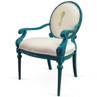 One Kings Lane - Woodson &amp; Rummerfield - Louis-Style Key Chair, Blue