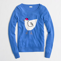 Factory warmspun intarsia hen sweater