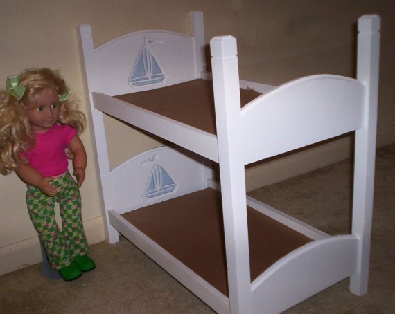 american girl 18 inch doll size bunk bed from cmcraftedtreasures. Black Bedroom Furniture Sets. Home Design Ideas