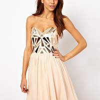 Opulence England | Opulence England Dress with Metal Trim Bodice at ASOS