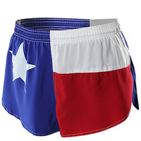 "BOA Men's 1"" Elite Split Leg Short Texas Flag"