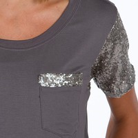 BKE Sequin Top - Women's Shirts/Tops | Buckle