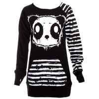 Killer Panda by Poizen Industries Raw Top (Black) | Blue Banana UK