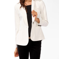 Longline Single Button Blazer