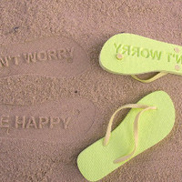 Don&#x27;t Worry Be Happy Flip Flops by FlipSide Flip Flops