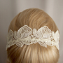 Roses lace headband ivory by StitchFromTheHeart on Etsy