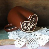 mug love in chocolate - $16.99 : ShopRuche.com, Vintage Inspired Clothing, Affordable Clothes, Eco friendly Fashion