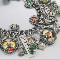 Charm Bracelet Double Double Toil &amp; Trouble by BlackberryDesigns