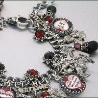 Charm Bracelet Vampire Princess Halloween by BlackberryDesigns