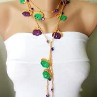 Free Shipping Purple saffron yellow green and purple by Periay