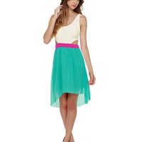 Teal Dress - High Low Dress - Sleeveless Dress - &amp;#36;44.50