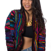 New Jack City Vintage Coogi Neon Wool Cardigan
