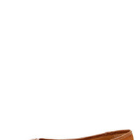 City Classified Maxim Light Hazel Suede Belted Pointed Flats