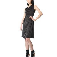 Silk Wrap Dress w/ Leather Belt