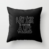 A Life Lived (Black) Throw Pillow by fantasizereality