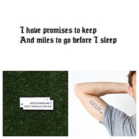 Promises To Keep - Temporary Tattoo Quote (Set of 2)