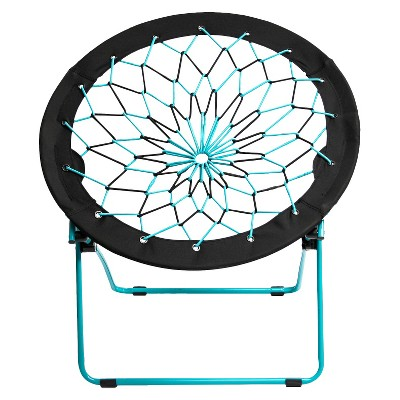 room essentials teal black bungee chair from target