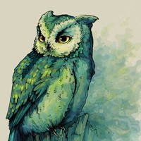 """Owl"" - Art Print by Teagan White"