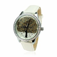 YCW The Tree of Life Rhinestone-studded Ladies Watch