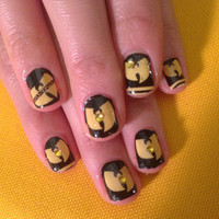WU TANG killa bees nail decals black and yellow