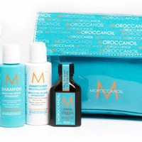 Moroccanoil Tavel Kit - Treatment Oil 25ml, Shampoo 70ml, Conditoner 70ml, Hydrating Mask 75ml  Travel Case7290013627919