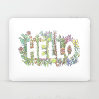Hello in Flowers Laptop & iPad Skin by Marie Gardeski
