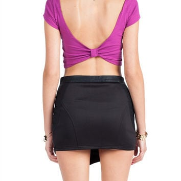 Bow Back Crop Top - Large