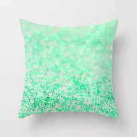 Sweetly Mint Throw Pillow by Lisa Argyropoulos