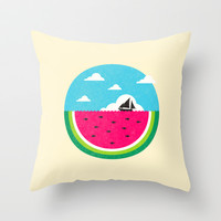 Watemelon Deep Throw Pillow by Ivan Rodero