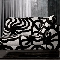 Joonas marimekko covered couch.futon