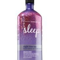 Bath and Body Works Night Time Tea 10 Oz Body Wash  Foam Bath Dream Away Aromatherapy Limited Scent