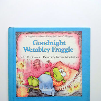 Vintage Goodnight Wembley Fraggle Hardback Children's Book 1985
