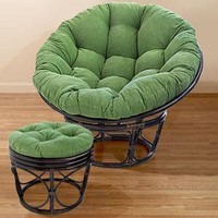 Green Corduroy Papasan Cushions  - Chair Cushions - Cost Plus World Market