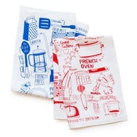 Poketo Linen Tea Towel - Kitchen Utensils