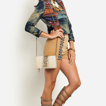 DailyLook: Embroidered Tribal Denim Jacket
