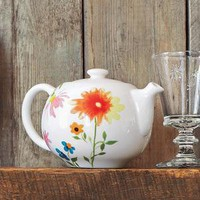 Botanical Ceramics Teapot, 22 oz. - New Coffee & Tea - Coffee & Tea - Sur La Table