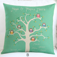Tree in Seasons Decorative Pillow Case 005