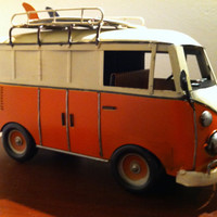 1970 VW Volkswagen Bus Toy Car