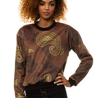 Civil The Paisley Crewneck in Brown : Karmaloop.com - Global Concrete Culture