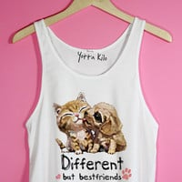 Different But Bestfriends Crop Tank Top | Yotta Kilo