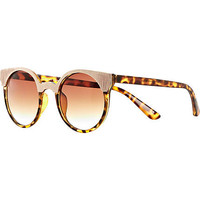 Brown animal print retro sunglasses - retro sunglasses - sunglasses - women