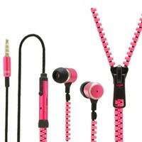 KHOMO ZIPPER STYLE EARPHONES :  Buy  KHOMO Zipper Style Earphones with Hands Free Microphone - Pink - worldwide shipping from USA - IPmart.com